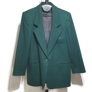 Kristen Blake Merino Wool Embroidered Blazer Coat